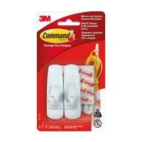 Крючки 3M Command™ 17001 прямоугольные до 1,35кг, Белые