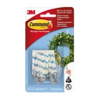 Крючки 3M Command™ 17091CLR овальные до 1,35кг, Прозрачные