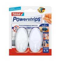 Крючки Powerstrips® 58185 овальные до 1.5кг, Белые