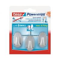 Крючки Powerstrips® 58194 овальные до 0.75кг, Хром