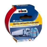 Светоотражающая лента UNIBOB®, Красно-Белая, 310мкр, 5м:48мм