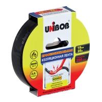 Профессиональная изолента ПВХ UNIBOB®, Черная 200мкр, 25м:19мм