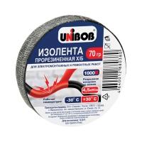 Изолента Х/Б UNIBOB® прорезиненная, 70гр