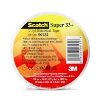 Изолента ПВХ 3M™ Scotch Super 33+ высшего класса, 180мкр, Черная