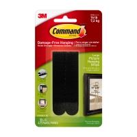 Клейкие застежки 3M Command™ 17206 для картин до 7.2кг, Чёрные