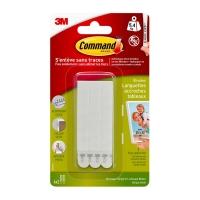 Клейкие застежки 3M Command™ 17207 узкие до 5,4кг, Белые