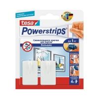 Крючки-держатели Powerstrips 58217 для предметов до 1.5кг, Белые