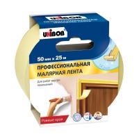 Малярная лента UNIBOB® для ровных краёв, Жёлтая
