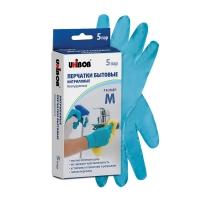 Перчатки нитриловые Unibob® бытовые, 5 пар