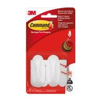 Крючки 3M Command™ 17082 овальные до 450г, Белые