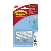 Крючки 3M Command™ 17092CLR овальные до 450г, Прозрачные