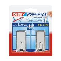 Крючки Powerstrips® 58186 прямоугольные до 1.5кг, Хром