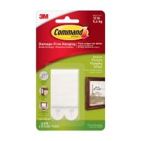 Клейкие застежки 3M Command™ 17201 для картин до 5.4кг, Белые