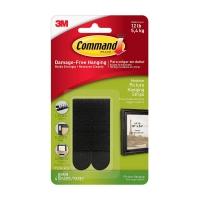 Клейкие застежки 3M Command™ 17201 для картин до 5.4кг, Чёрные