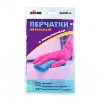 Перчатки латексные UNIBOB® с хб напылением, пара